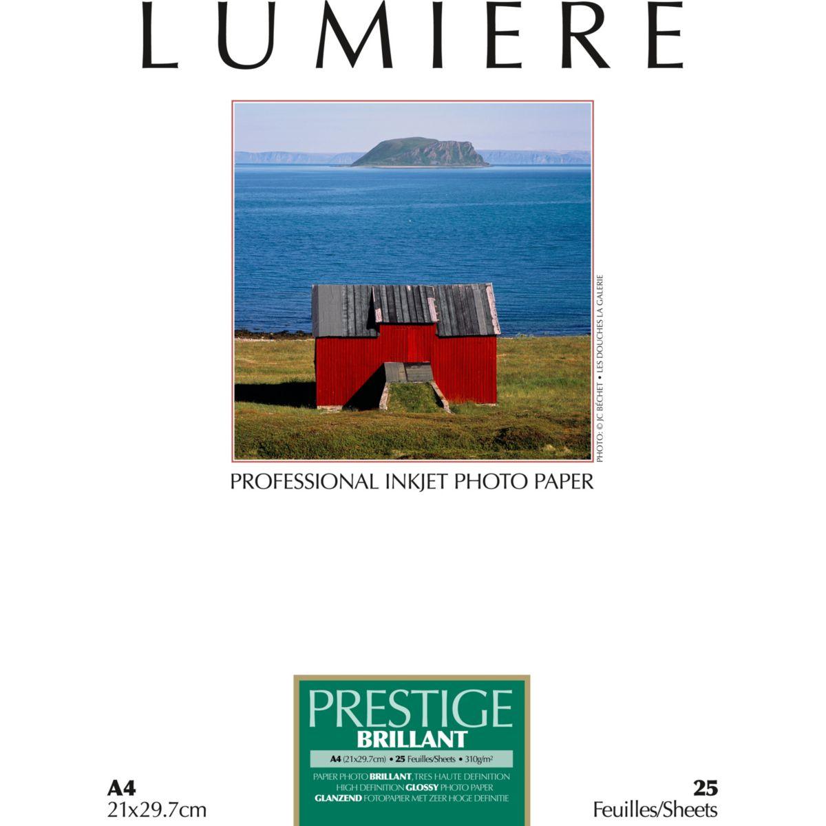 Papier photo LUMIERE Prestige Brillant 25f A4 310g