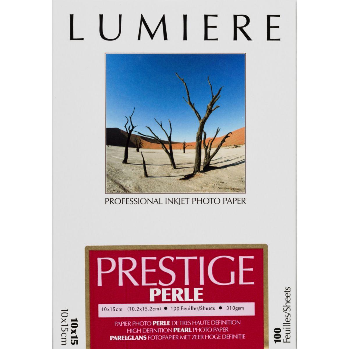 Papier photo LUMIERE Prestige Perle 100f 10x15 310g