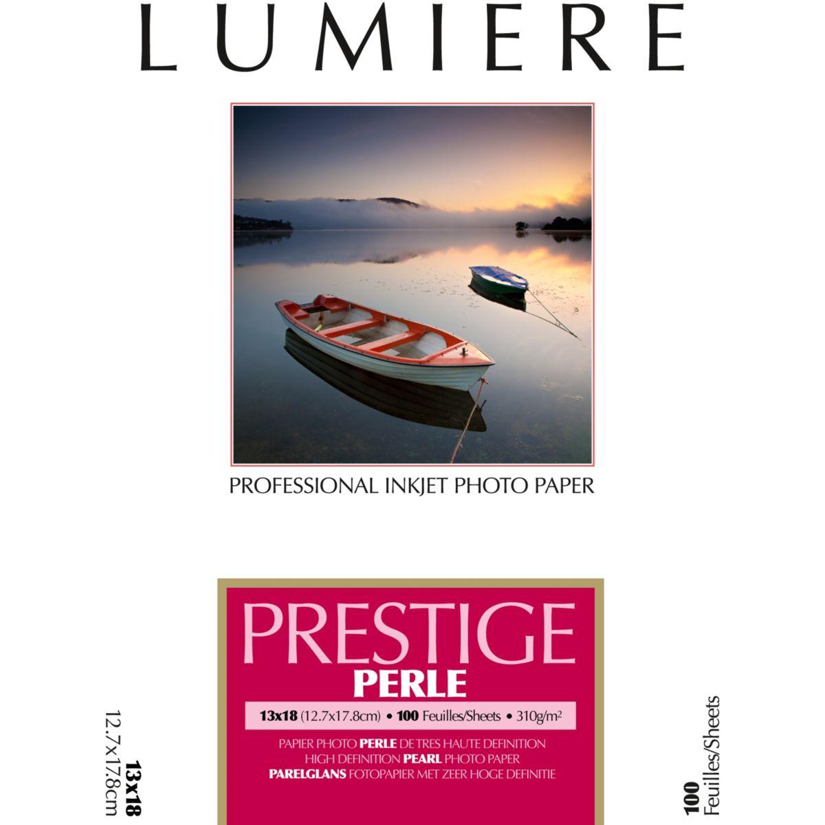 Papier photo LUMIERE Prestige Perle 100f 12,7x17,8 310g