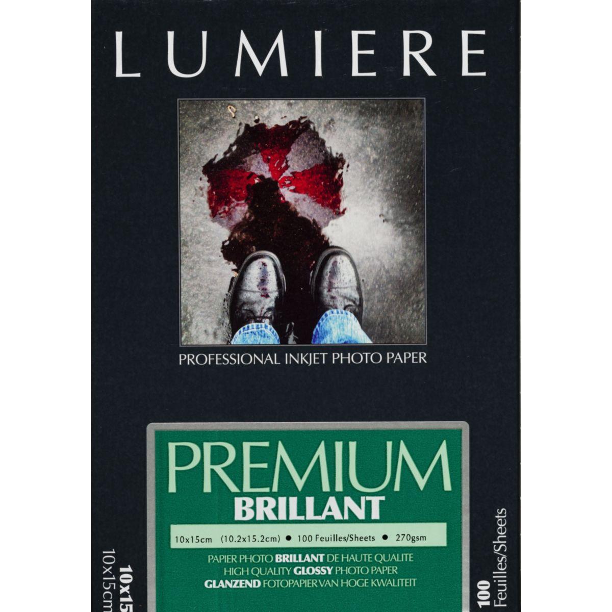 Papier photo LUMIERE Prestige Brillant 100f 10x15 270g