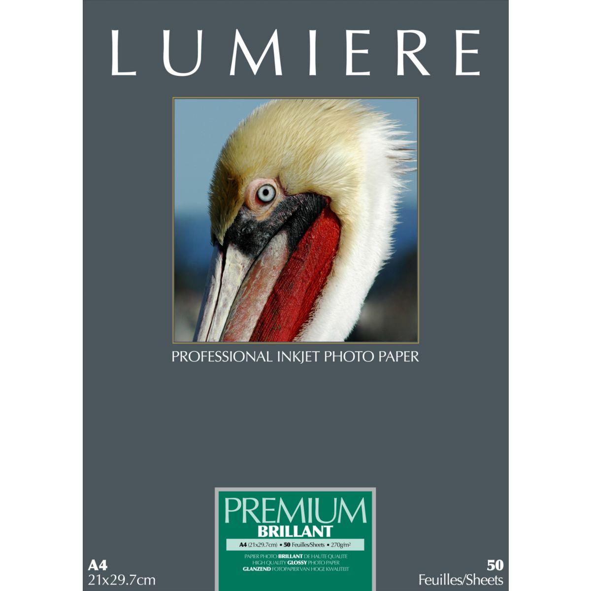 Papier photo LUMIERE Prestige Brillant 50f A4 270g