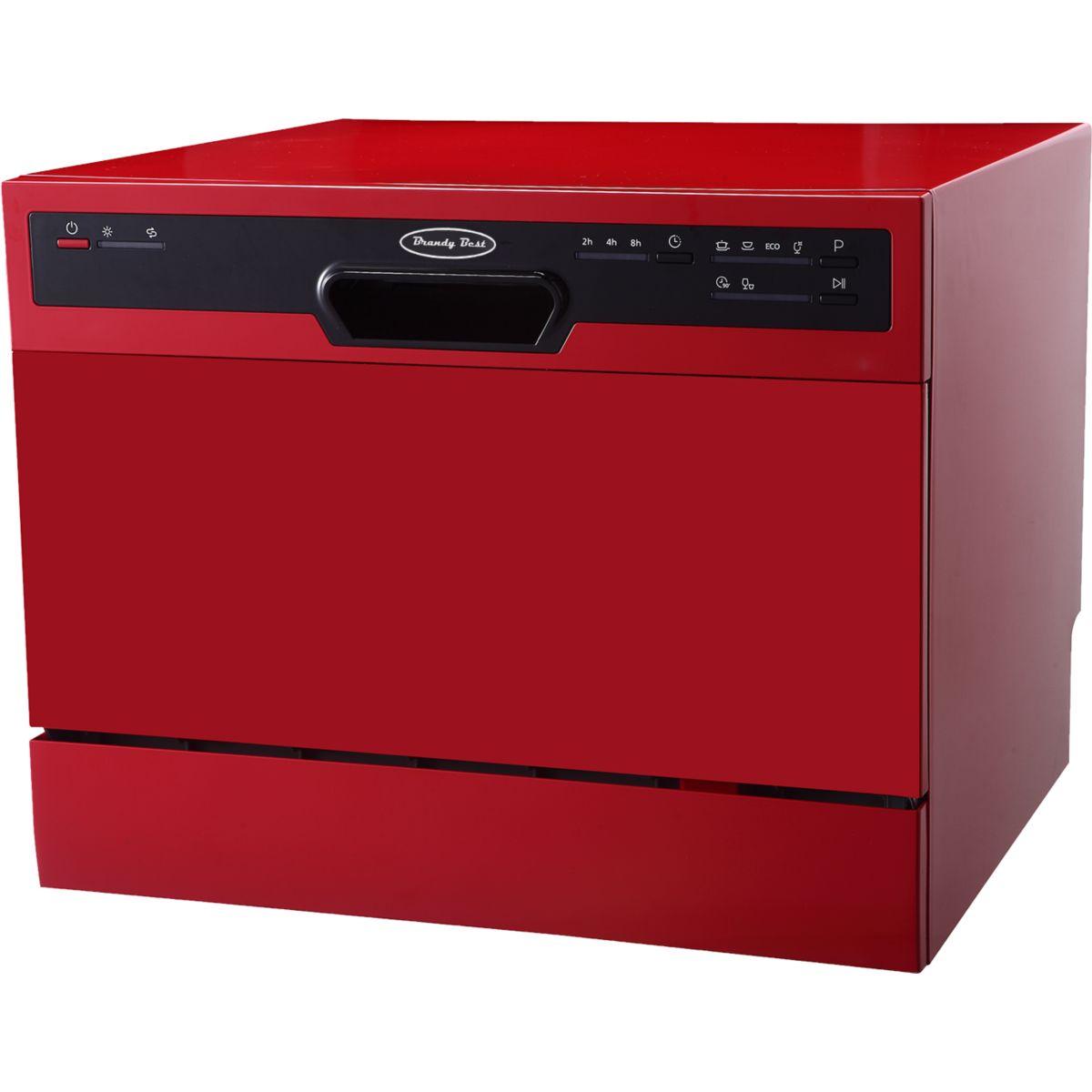 Mini lave vaisselle BRANDY BEST FLASH6R Rouge