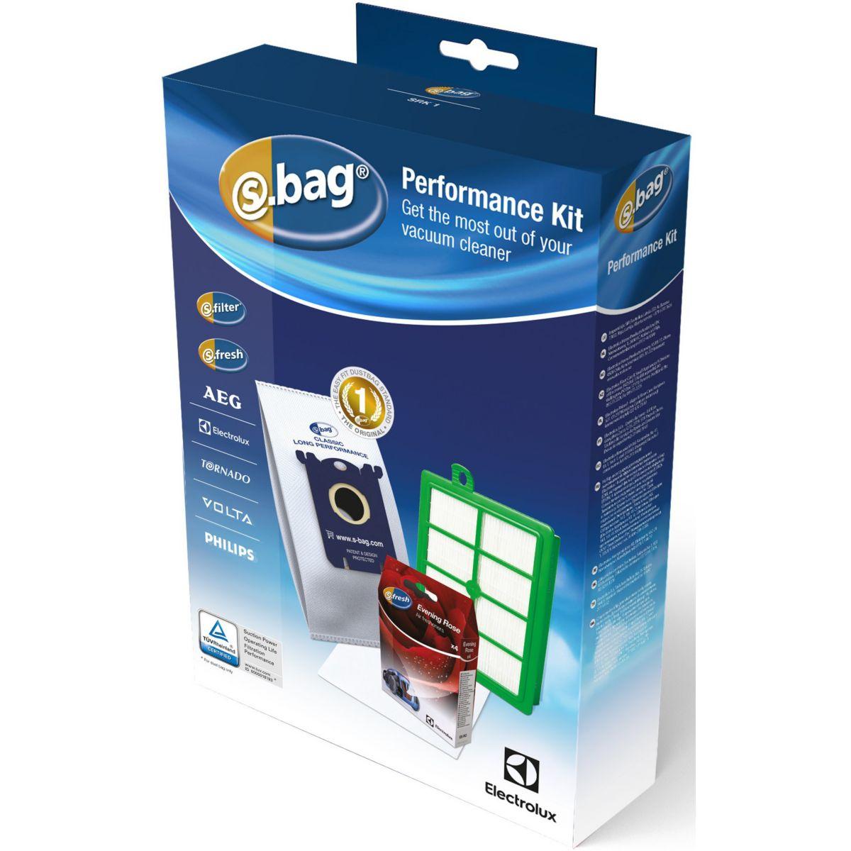 Sac aspirateur ELECTROLUX Bon usage SRK1: 4 Sacs + Filtre Hygiene