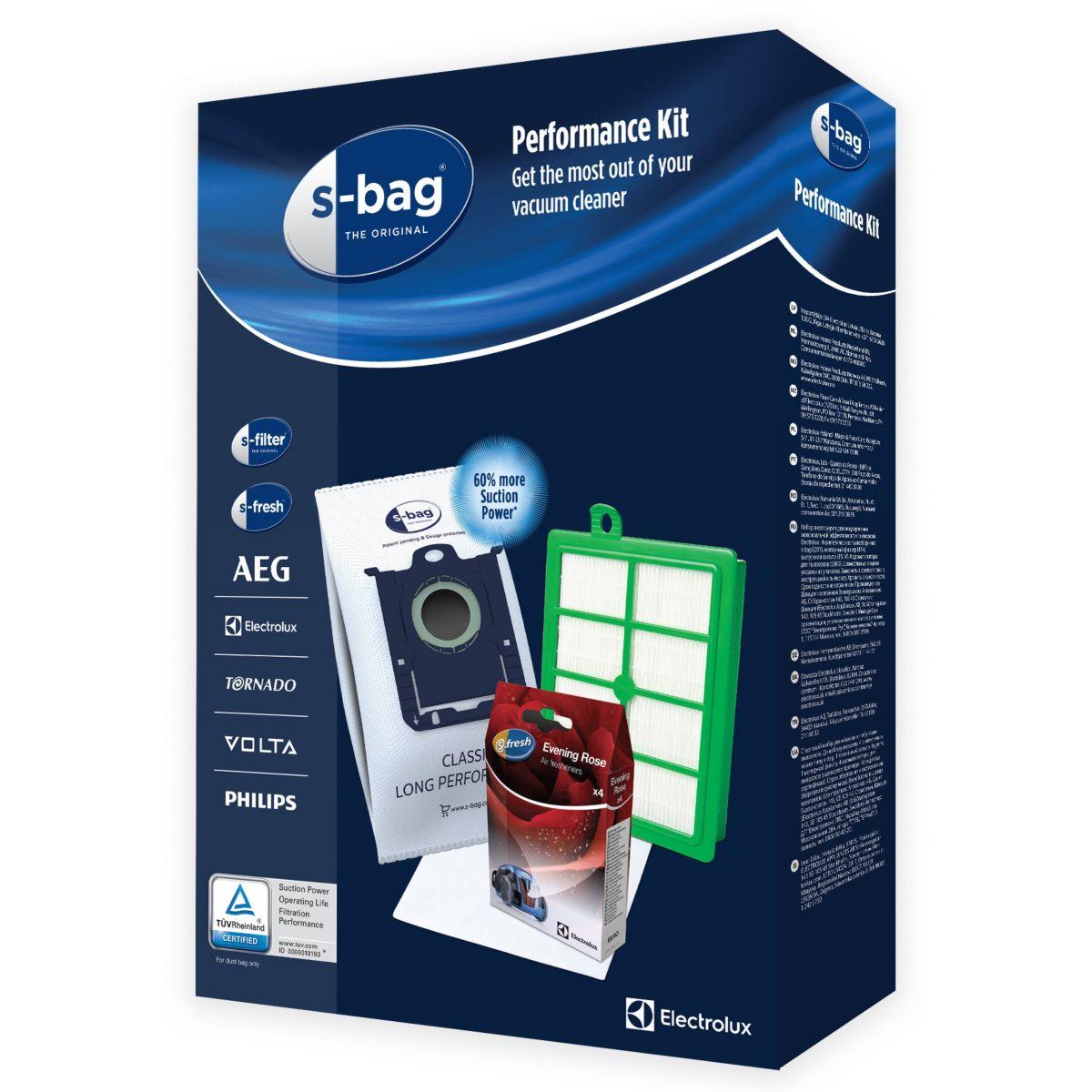 Sac aspirateur ELECTROLUX SRK1S 4 sacs 3.2L + filtres + 4 parfums