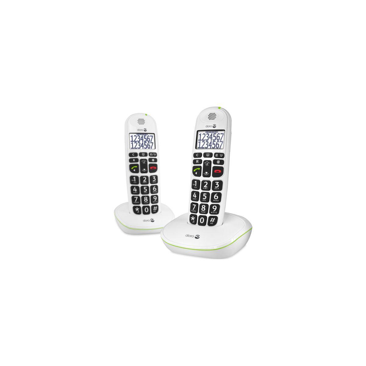 Téléphone sans fil DORO Phone Easy 110 duo Blanc