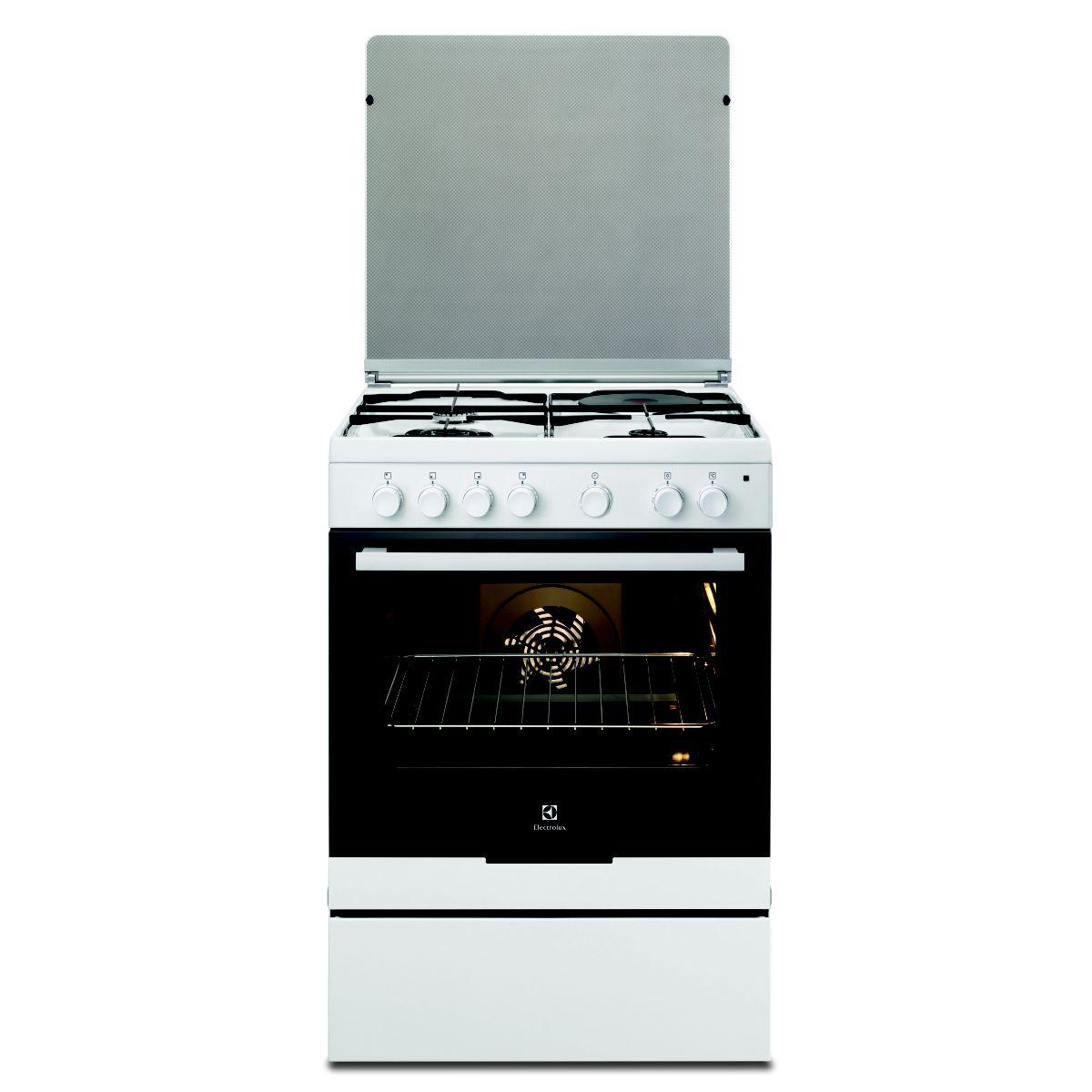 Cuisinière mixte ELECTROLUX EKM6130AOW