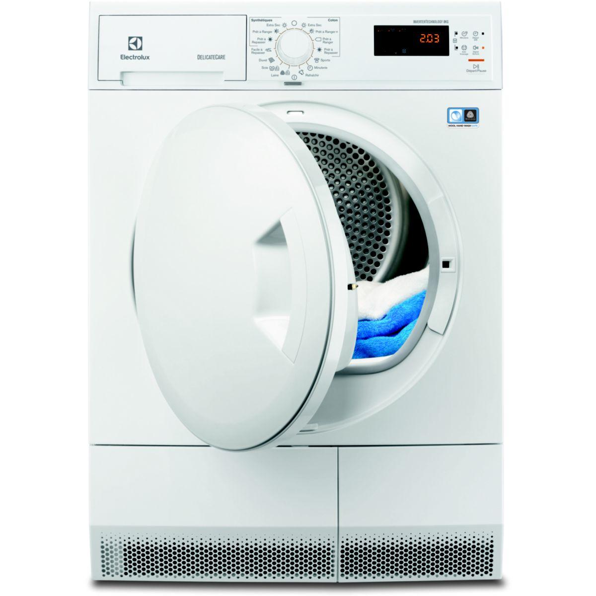 Sèche linge pompe à chaleur ELECTROLUX EDH3682PSS