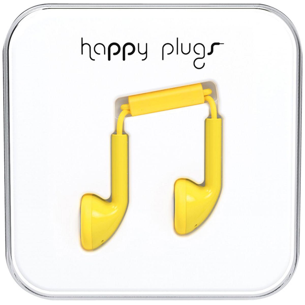 Ecouteurs avec micro HAPPY PLUGS Earbud Yellow