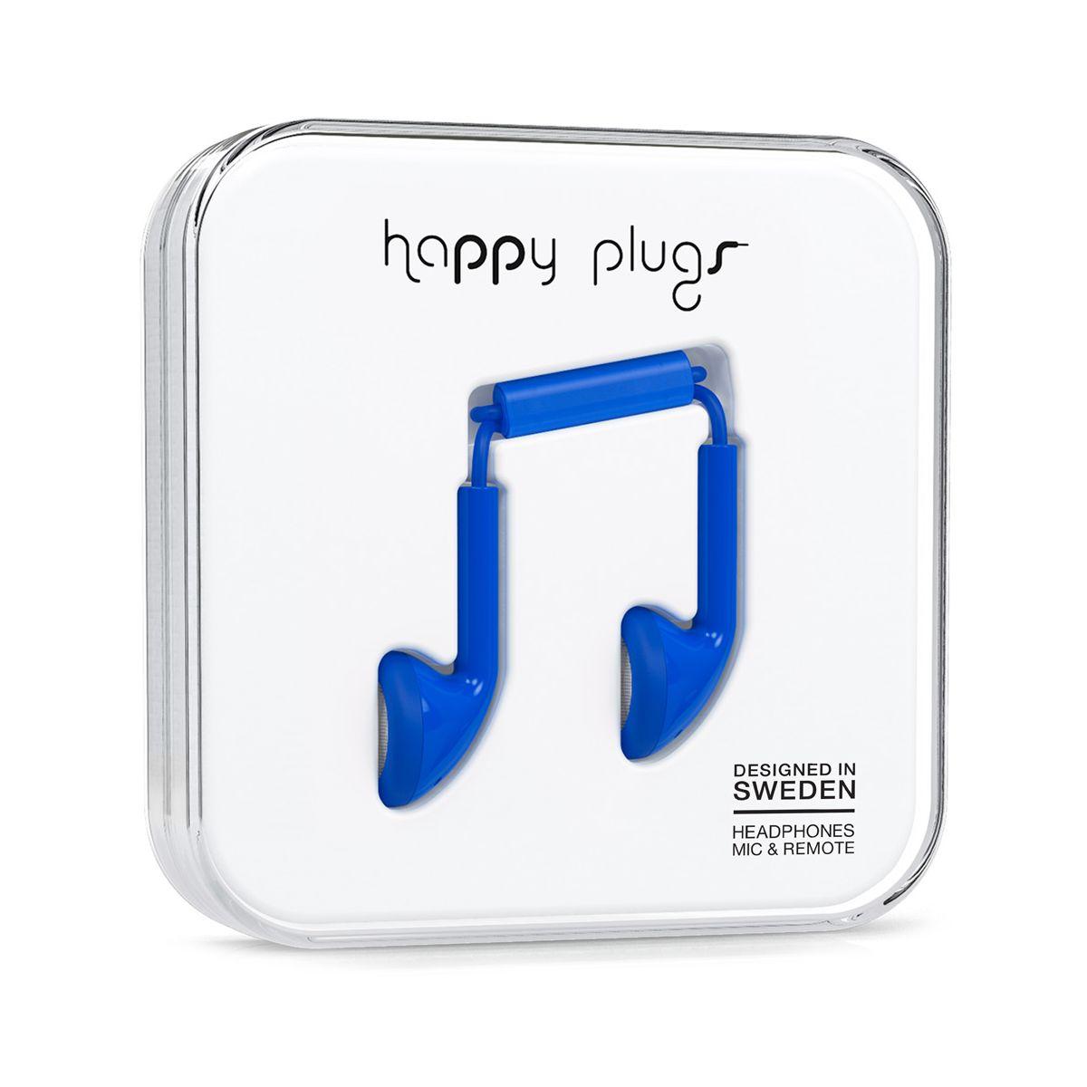 Ecouteurs avec micro HAPPY PLUGS Earbud Cobalt