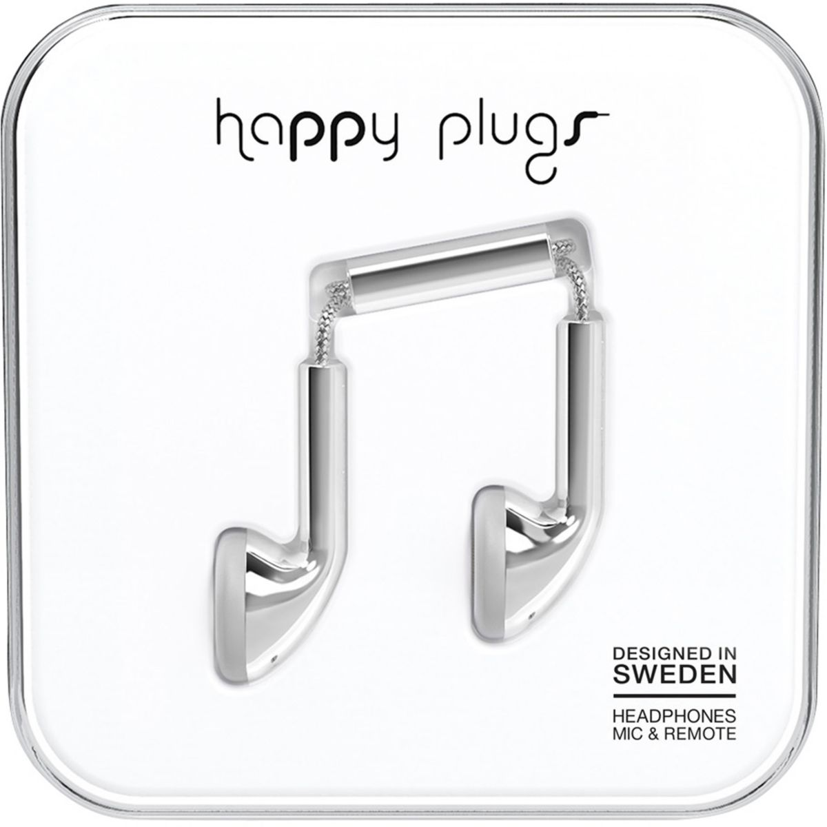 Ecouteurs HAPPY PLUGS Deluxe Edition Earbud Silver