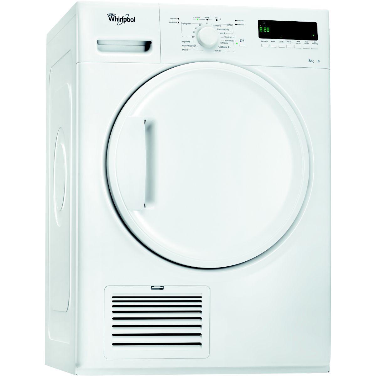 s che linge condensation whirlpool ddlx 80110 r f. Black Bedroom Furniture Sets. Home Design Ideas