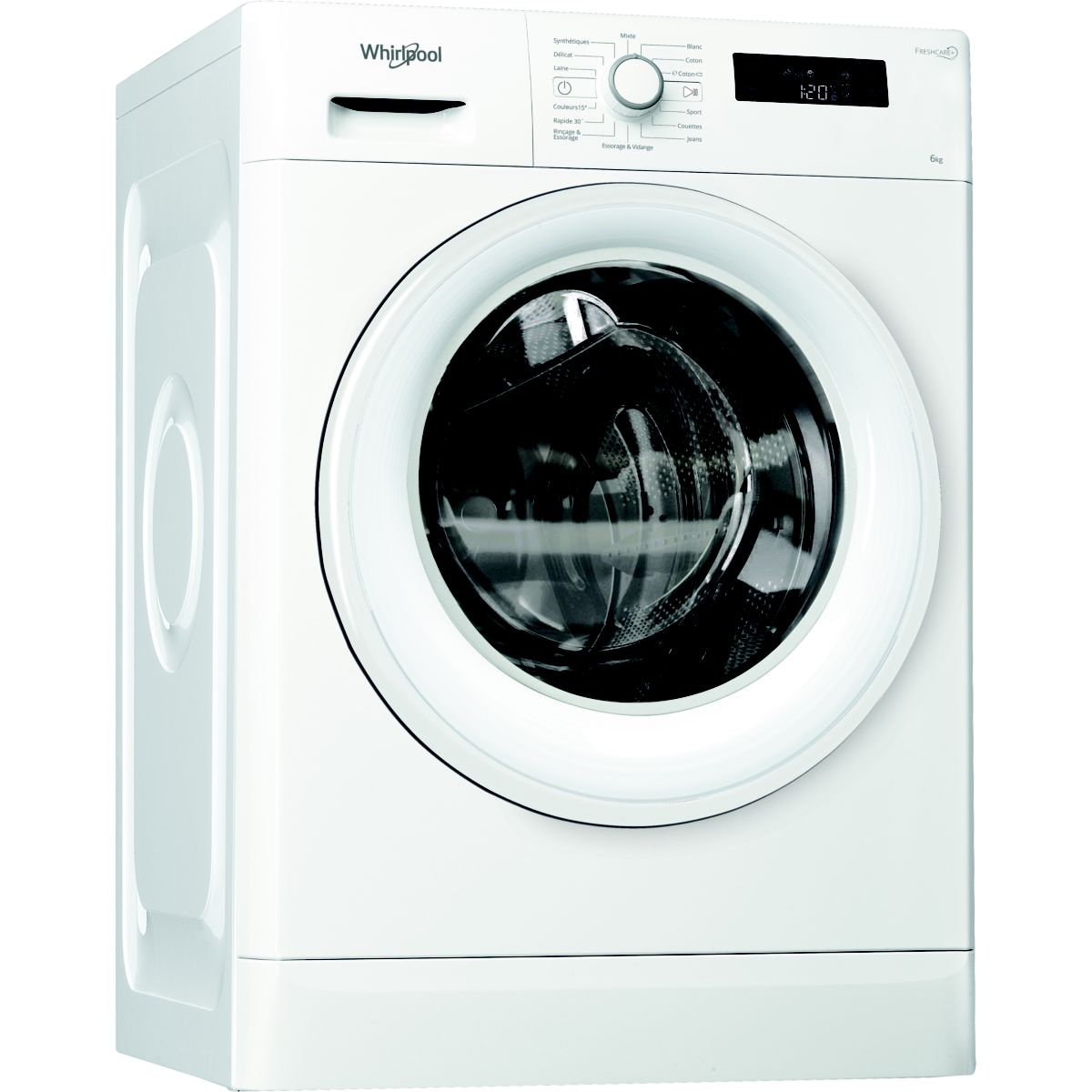 Lave linge compact WHIRLPOOL Freshcare FWSF61252WFR