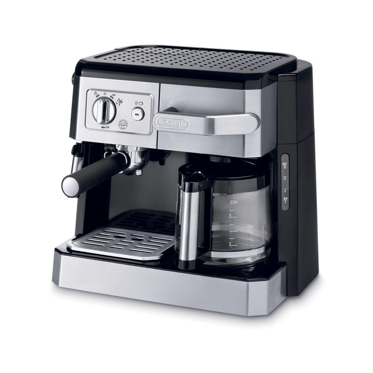 Expresso combiné cafetière DELONGHI BCO 420.1 finition métal