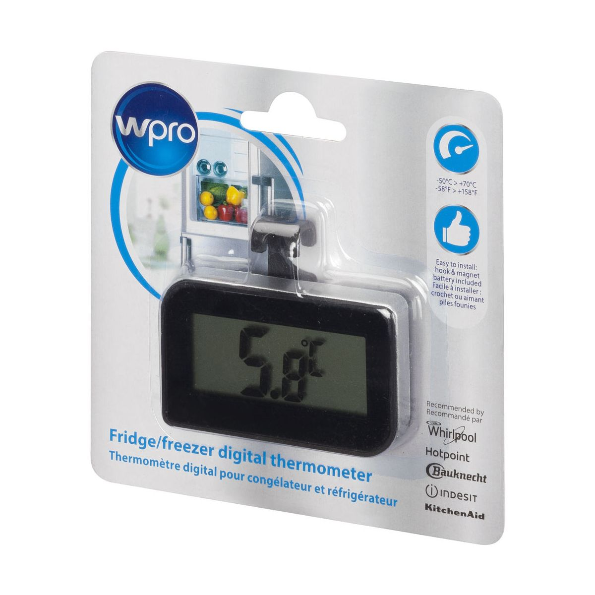 Thermomètre WPRO pour réfrigérateur BDT1