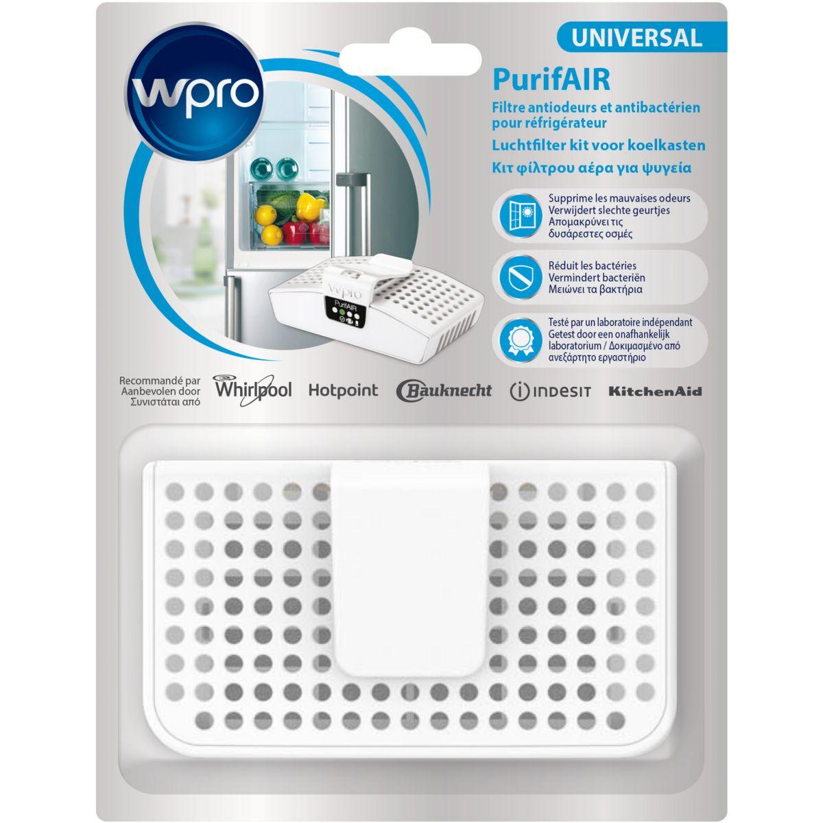 Filtre réfrigérateur WPRO PUR100 filtre anti odeur/antibactérien