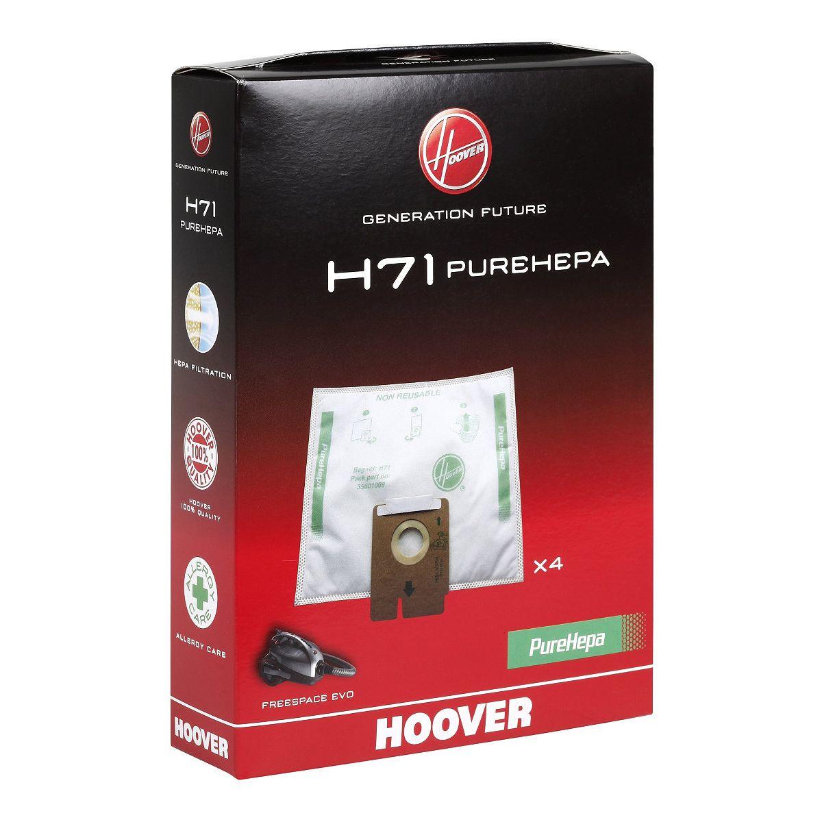 Sac aspirateur HOOVER H71 Sac microfibre EPA x4