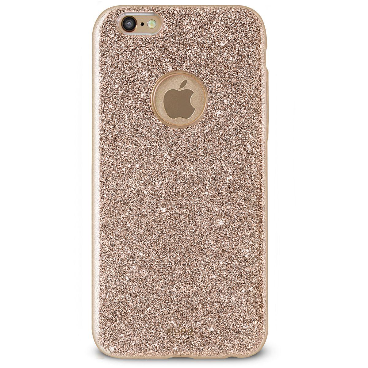 Coque PURO iPhone 7/8 pailleté doré