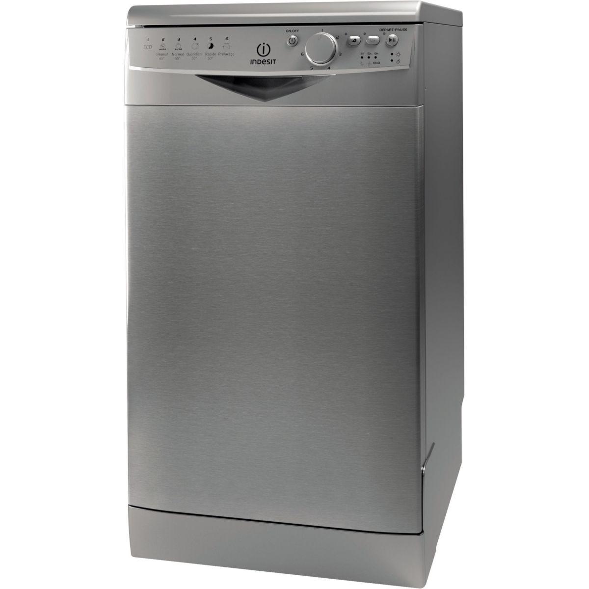 Lave-vaisselle compact 45cm INDESIT DSR 26B17 NX