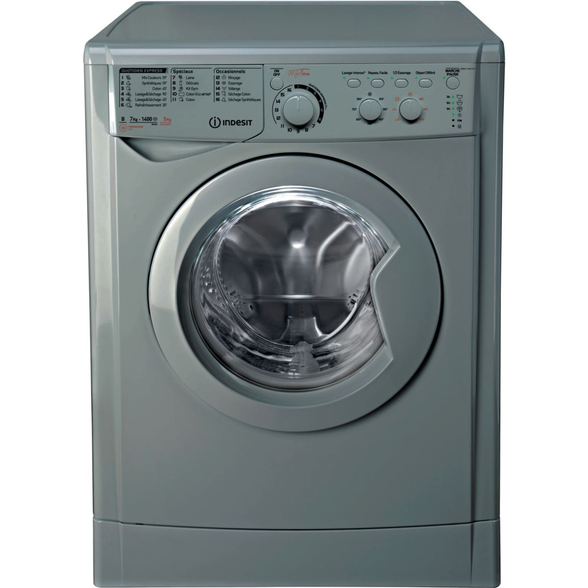 Lave-linge Séchant Frontal INDESIT EWDC 7145 SFR
