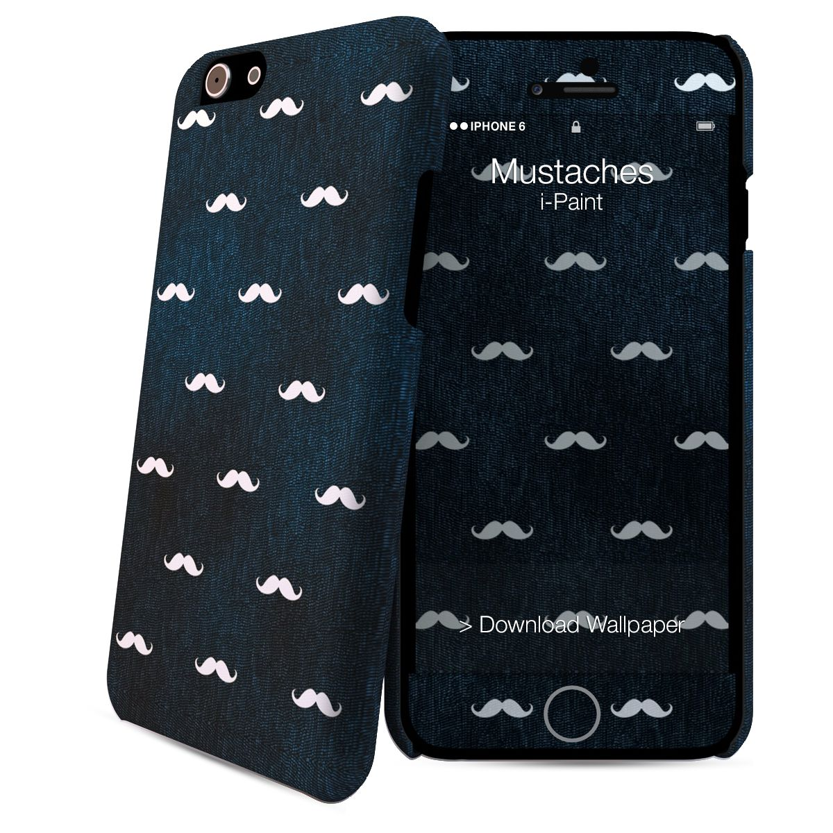 Coque IPAINT iPhone 6/6S Skin Moustaches