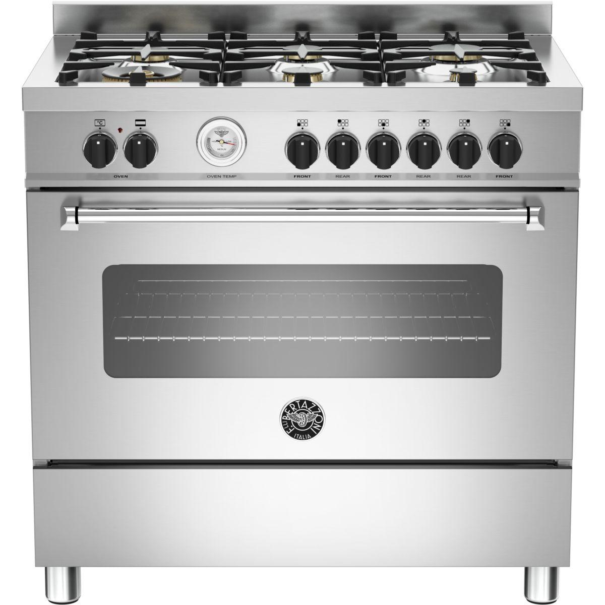 Cuisinière gaz BERTAZZONI MAS90 6 MFE S XT
