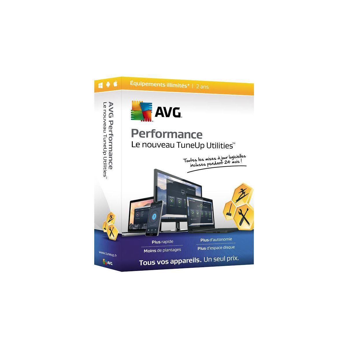Logiciel PC TUNE UP AVG Performance 2016 - 2 ans - illimité