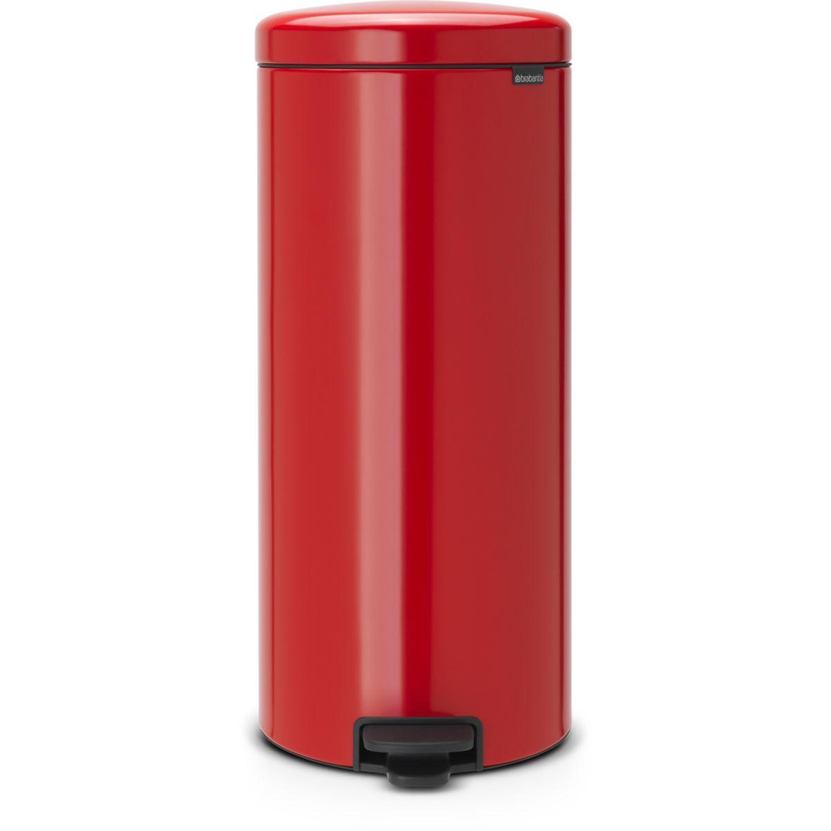 Poubelle manuelle BRABANTIA à pédale NewIcon 30L Passion Red