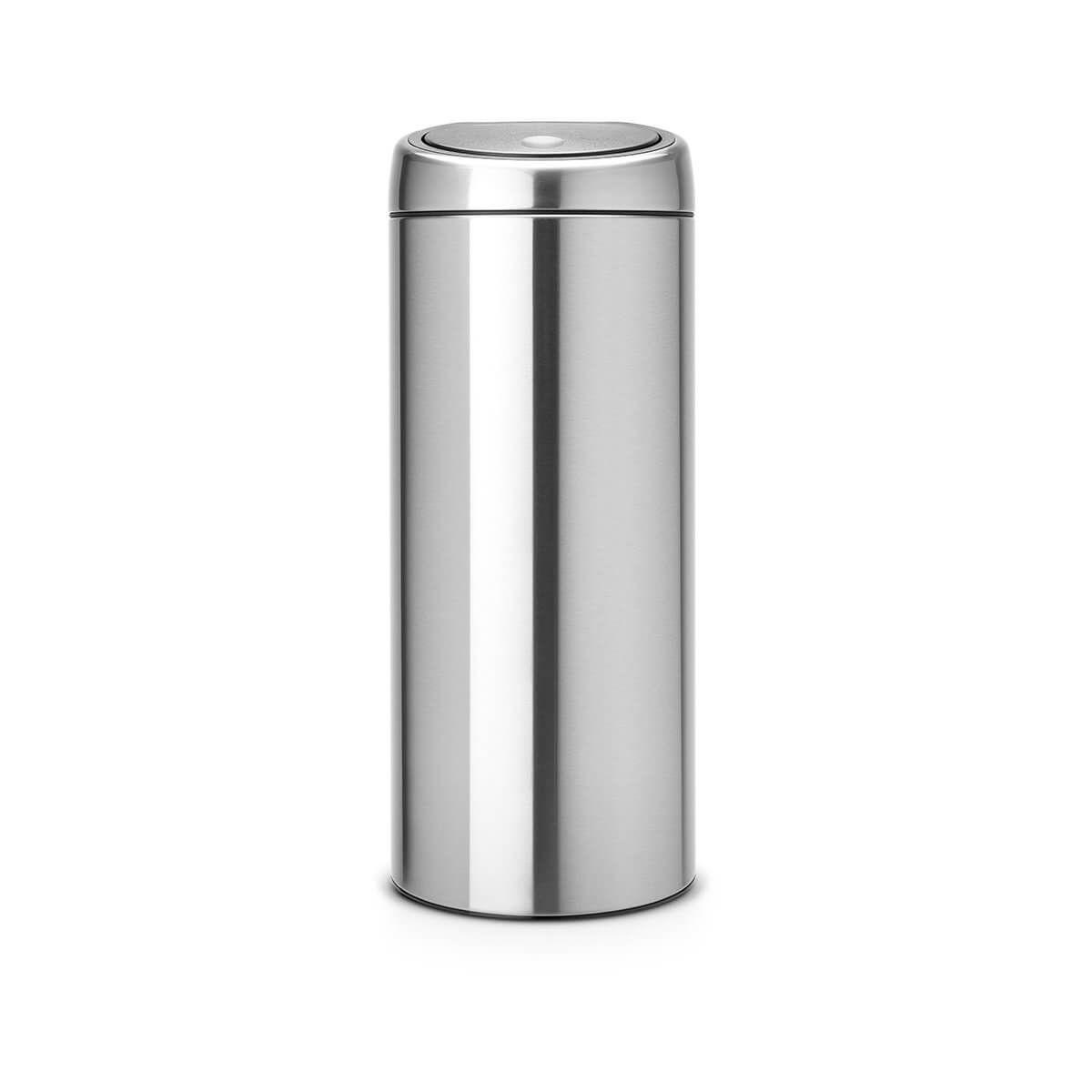 Poubelle manuelle BRABANTIA Touch Bin new 30L matt steel