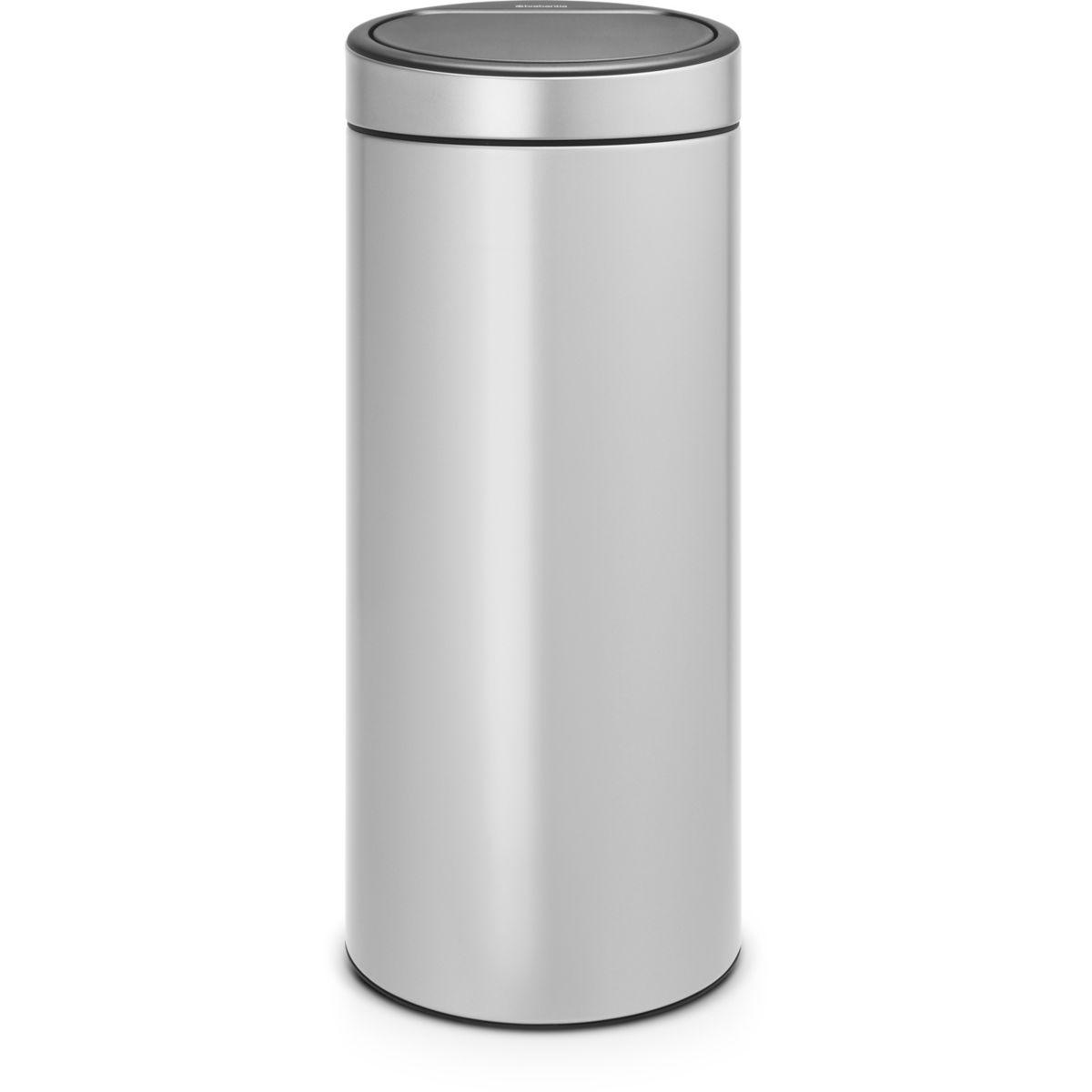 Poubelle manuelle BRABANTIA Touch Bin new 30L metallic grey
