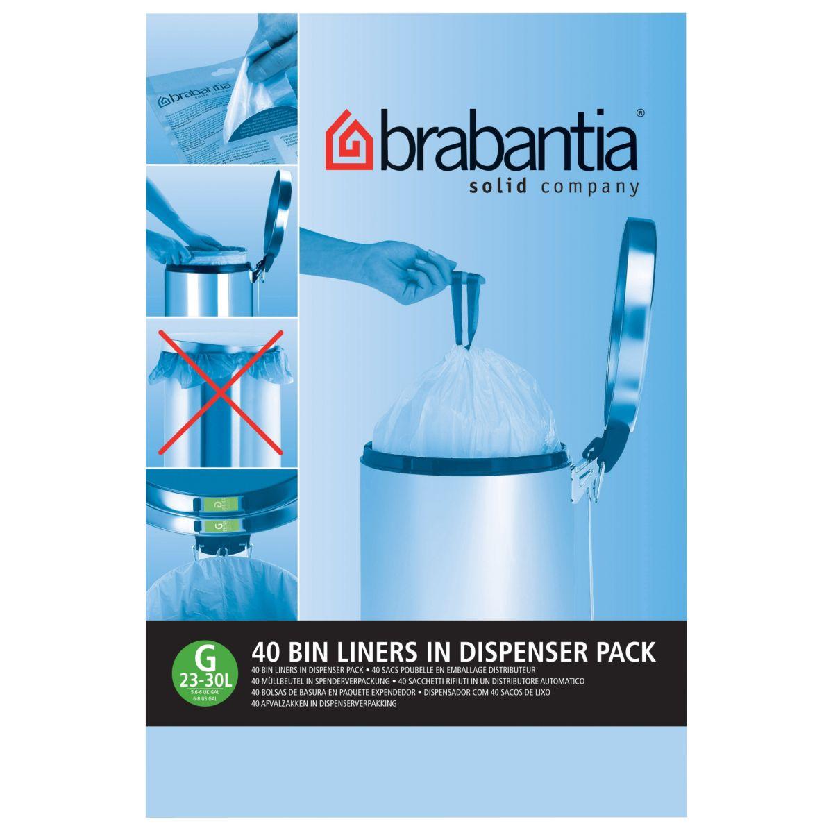 Distributeur BRABANTIA sacs poubelle 30L(40sacs/distributeur)