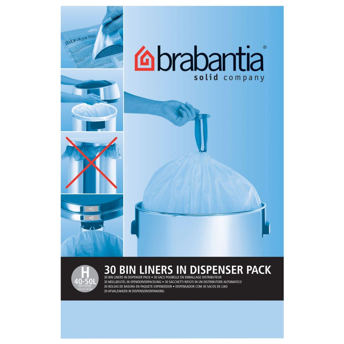 Distributeur BRABANTIA sacs poubelle 50L(30sacs/distributeur)