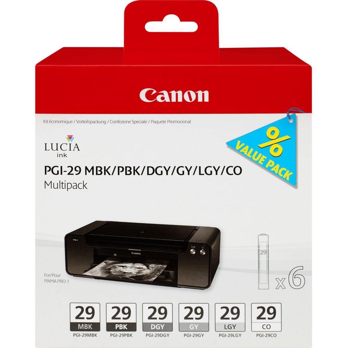 Cartouche CANON 6 cartouches noir/gris P