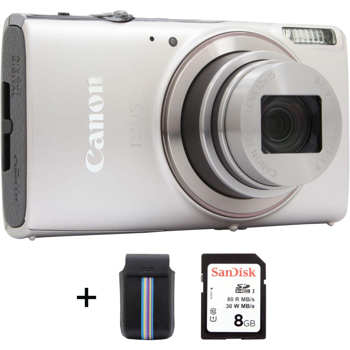 Appareil photo Compact CANON Ixus 285 HS Silver + Etui + SD 8G...