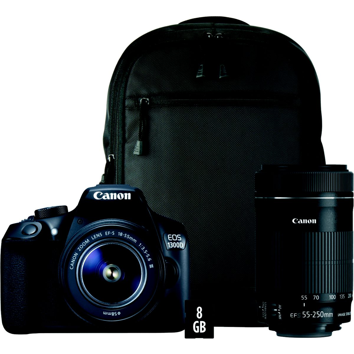 Appareil photo Reflex CANON EOS 1300D 18-55DC + 55-250IS + Sac...