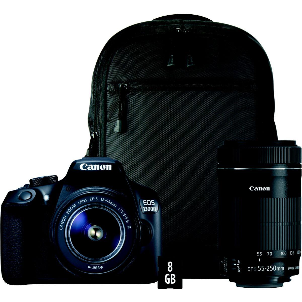 Reflex CANON EOS 1300D 18-55mm+55-250mm+