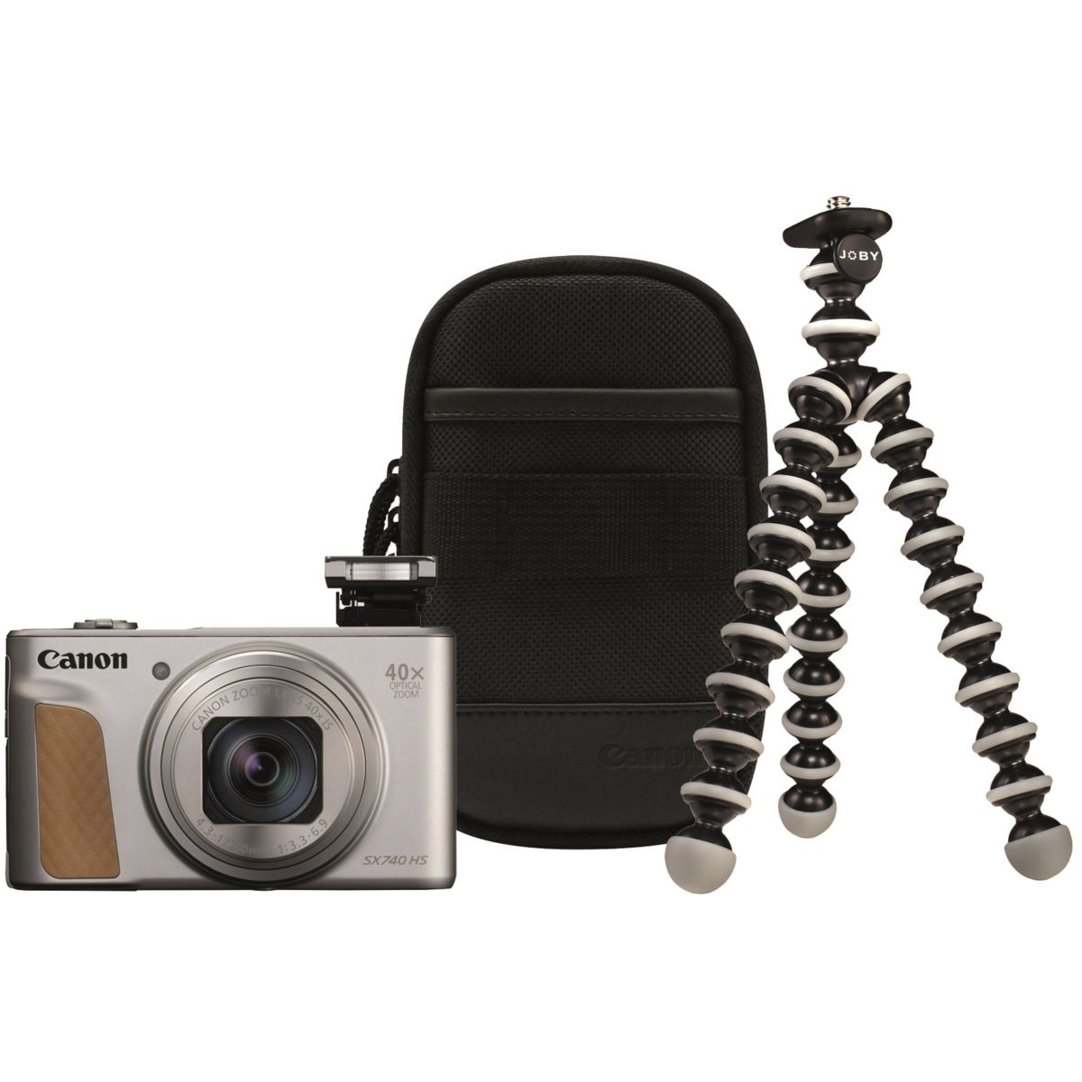 Appareil photo Compact CANON PowerShot SX740 HS Argent+Trepied+Housse
