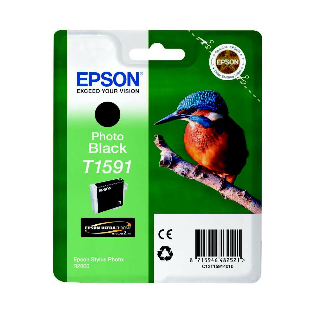 Cartouche d'encre EPSON T1591 Noire série Martin Pêcheu...