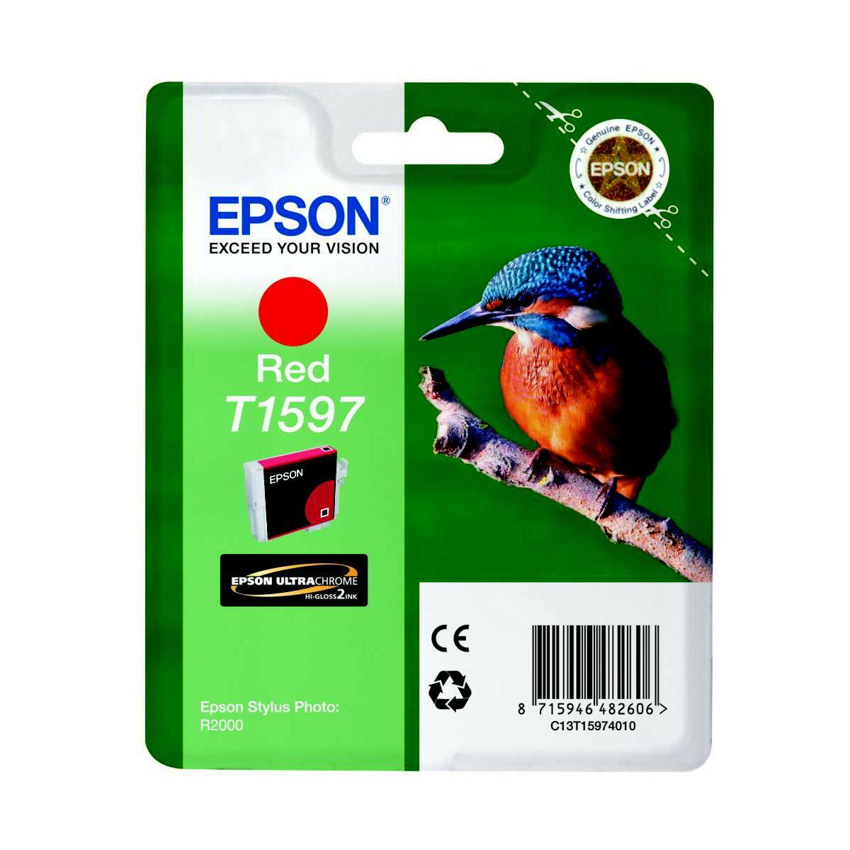 Cartouche d'encre EPSON T1597 Rouge série Martin Pêcheu...
