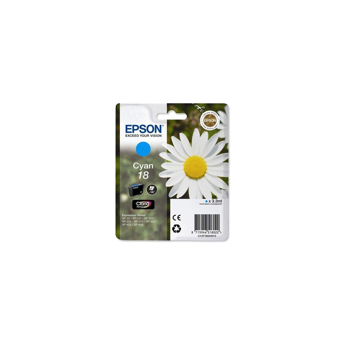 Cartouche d'encre EPSON T1802 Cyan Série Paquerette