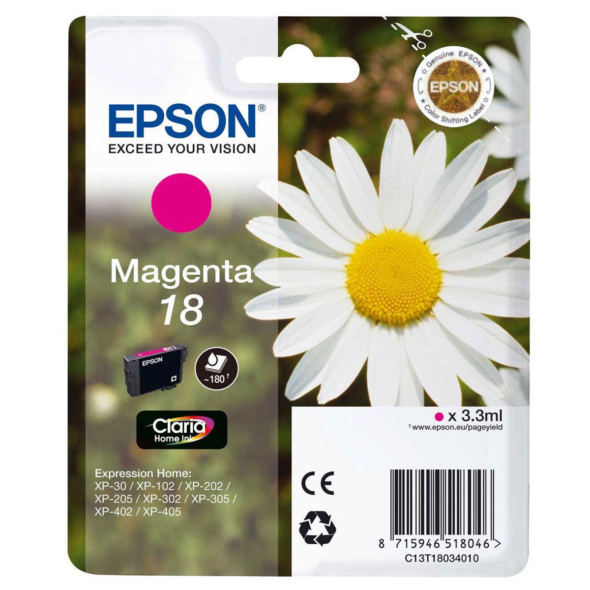 Cartouche d'encre EPSON T1803 Magenta Série Paquerette