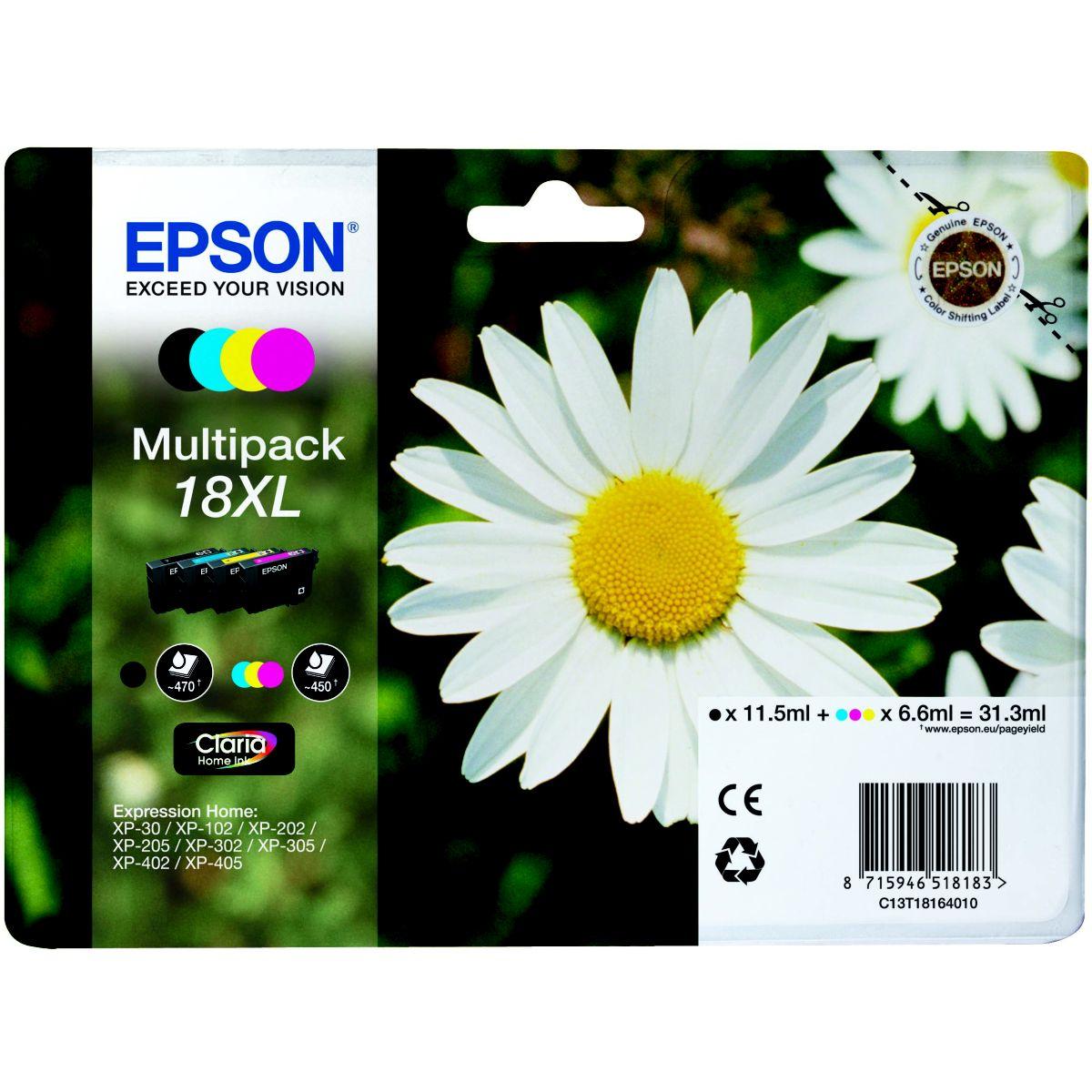 Multipack cartouches d'encre EPSON Pack 4CL XL série Paquerette