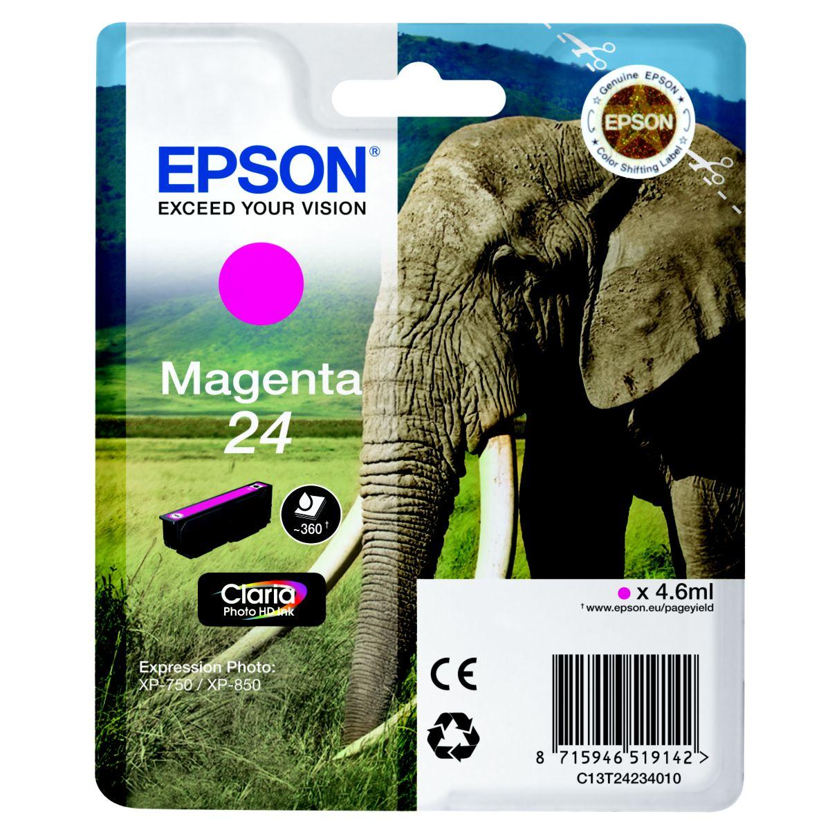 Cartouche d'encre EPSON T2423 Magenta Série Elép