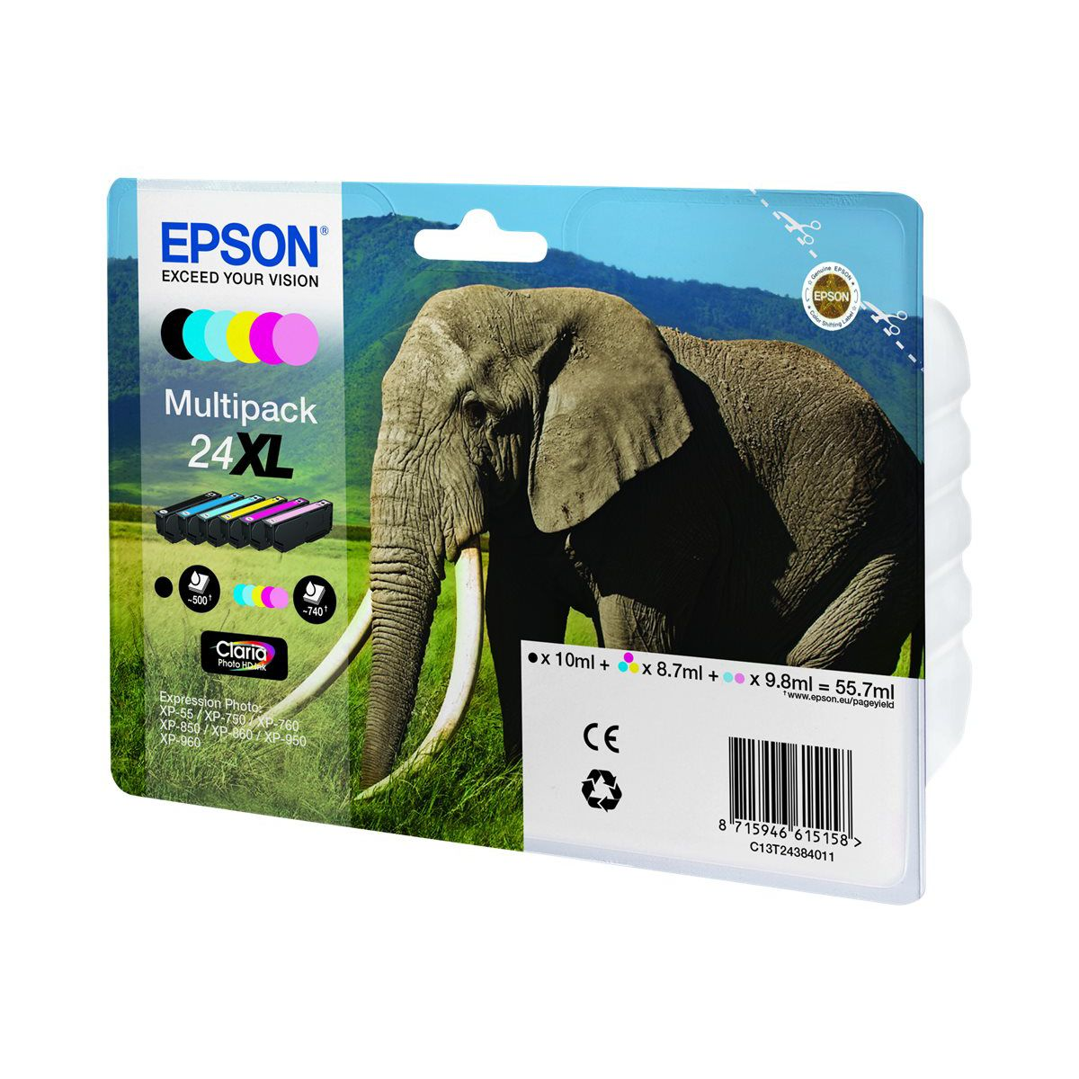 Cartouche EPSON N°24 XL Pack 6 cartouche