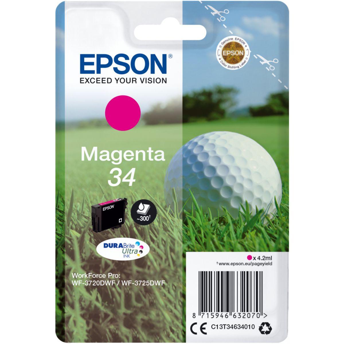 Cartouche d'encre EPSON T3463 Magenta Série Balle de golf