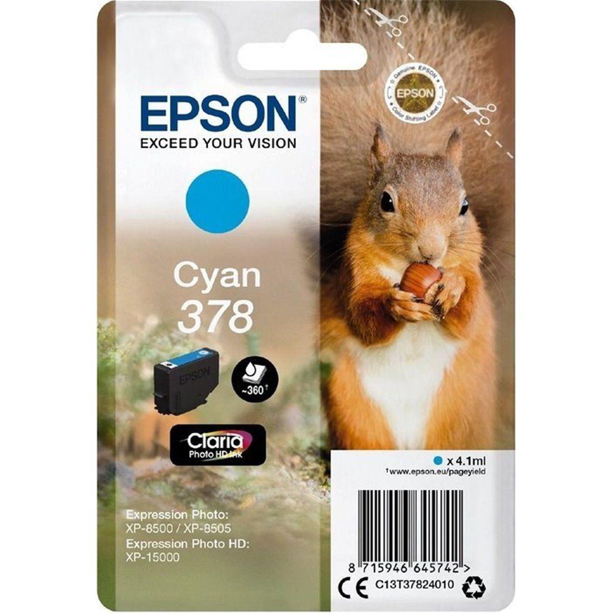 Cartouche d'encre EPSON 378 Cyan Série Ecureuil