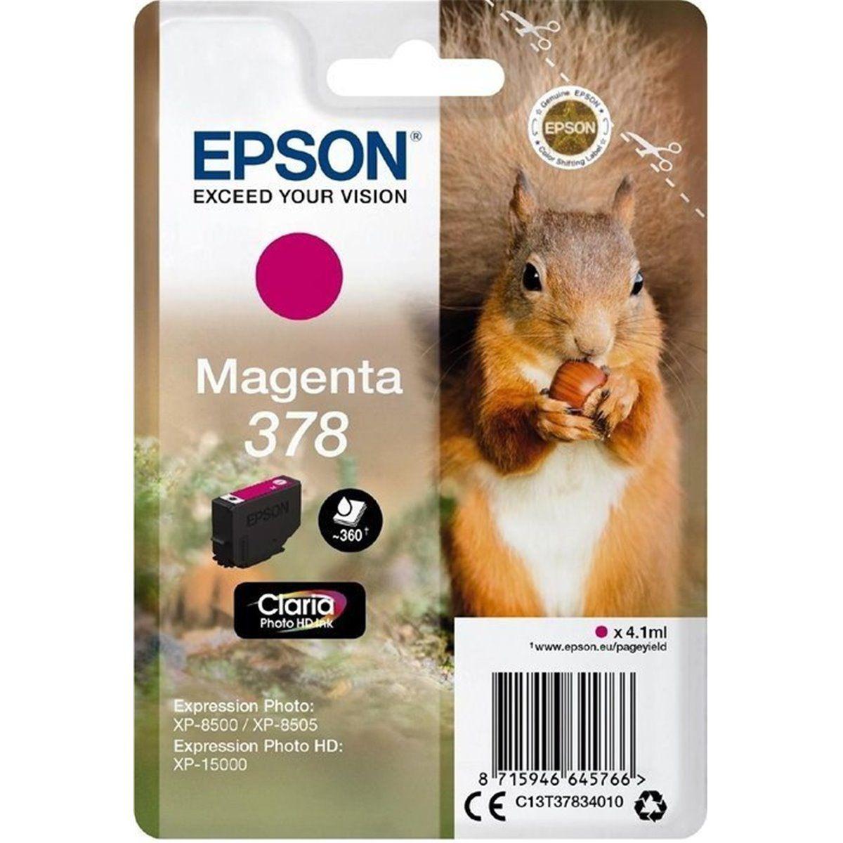 Cartouche d'encre EPSON 378 Magenta Série Ecureuil
