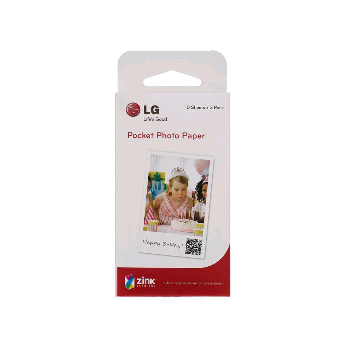 Papier photo instantané LG PS2203 Pocket Photo 3x10F