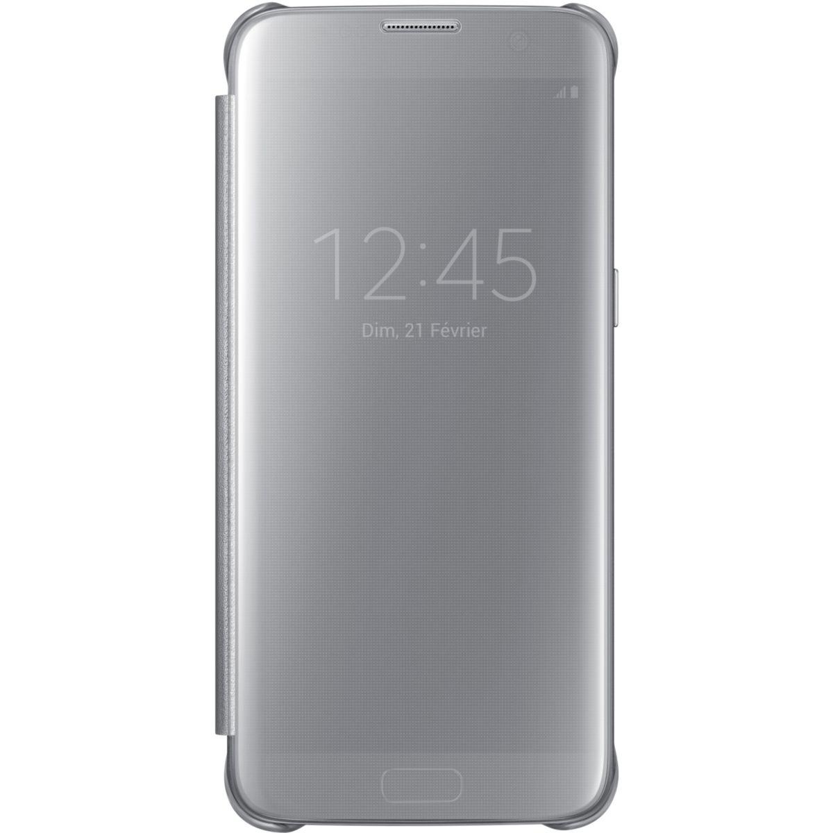 Etui SAMSUNG Clear View Cover Galaxy S7 Edge Silver