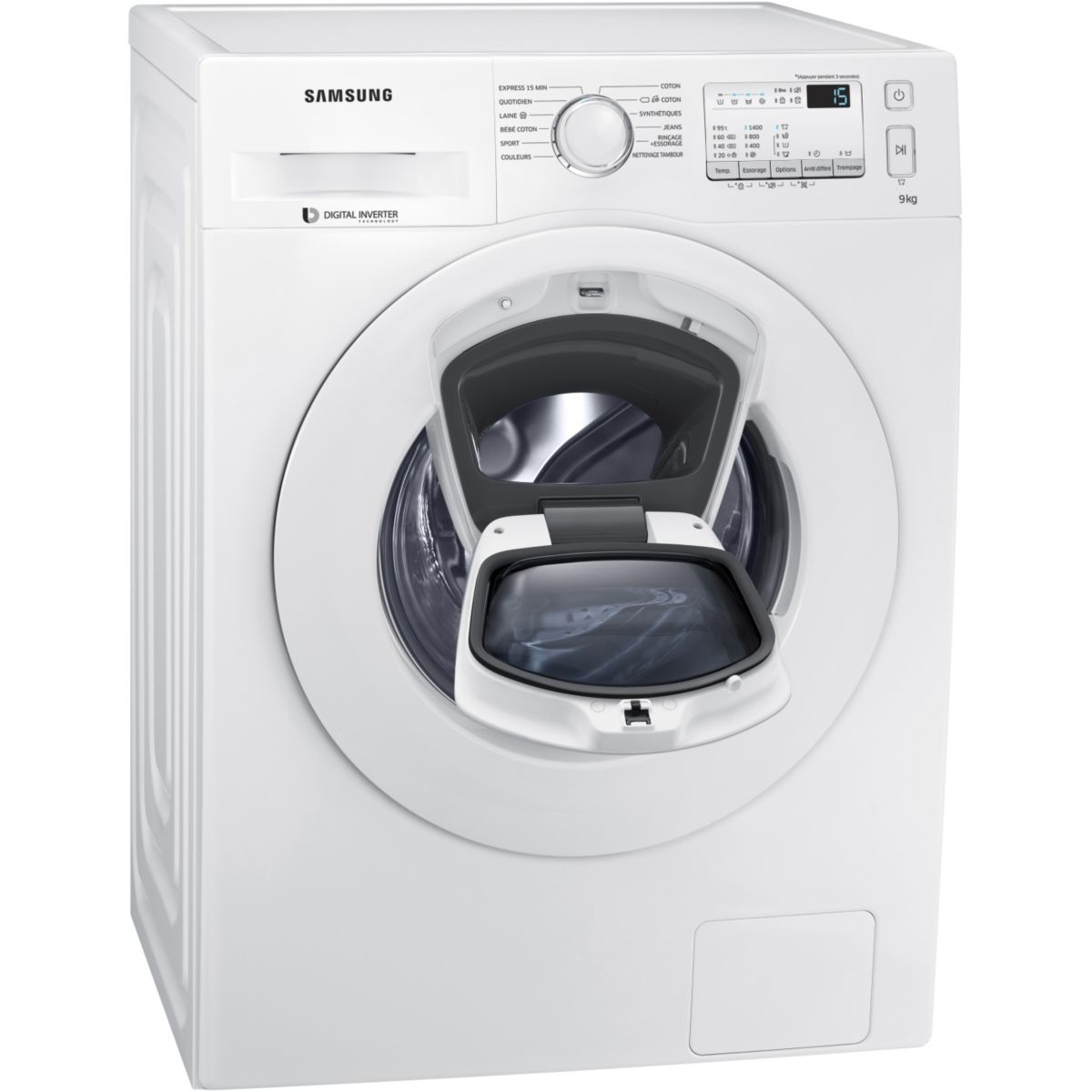 Lave linge hublot SAMSUNG ADD WASH WW90K4437YW