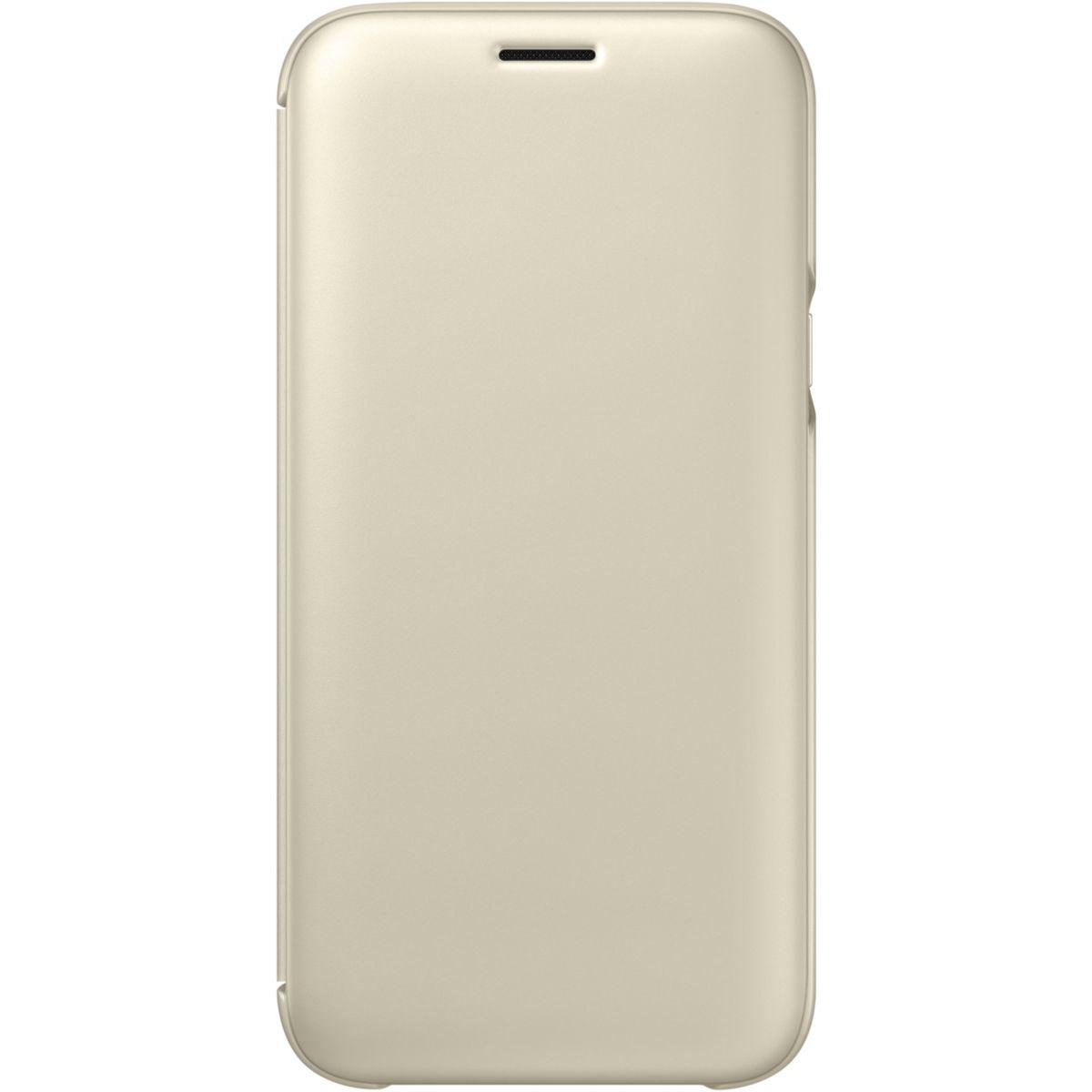 Etui SAMSUNG Flip Wallet Galaxy J5 2017 doré